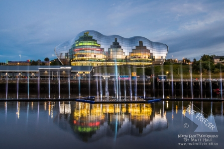Photo f the fountains in front of the Sage for GET North