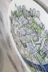 Newcastle Globe Map Acrylic