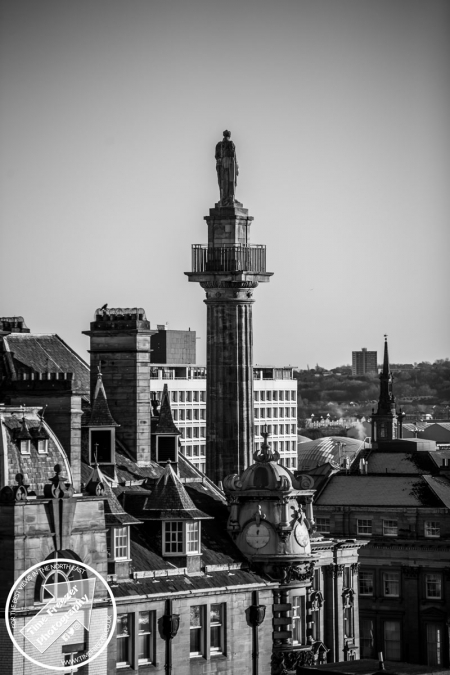 Rooftop photo of Greys Monument in Newcastle