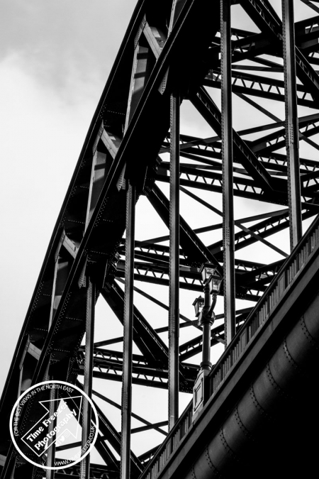Detail photograph of Tyne Bridge Newcastle
