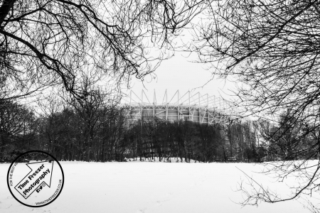 Snow on the Leazes End