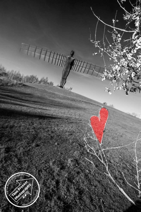 Heart at the Angel of the North photo