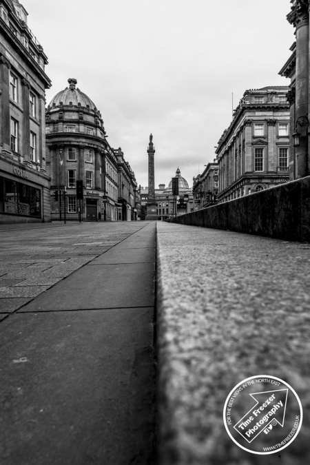 Greys Monument black and white photo