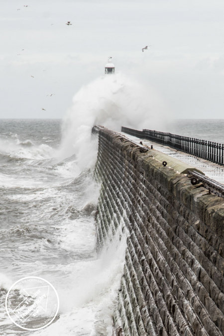 Big Waves Crashing on Tynemouth Pier