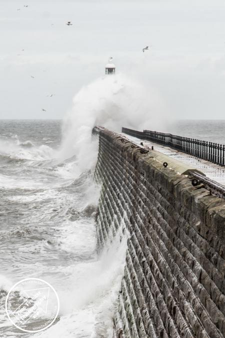 Big Waves Crashing on Tynemouth Pier