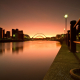 A beautiful look up the river Tyne in Winter