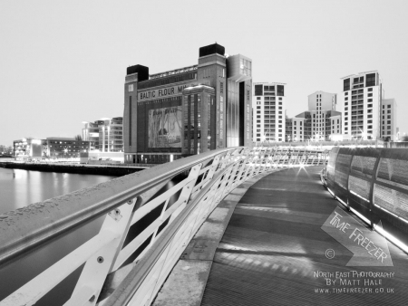 Baltic Centre for contemporary art frosty bridge photo